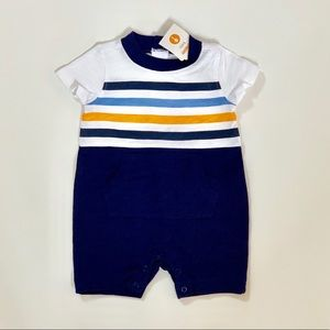 Gymboree Striped Navy and Orange Outfit